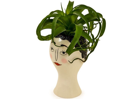 Quirky Blushing Lady Head Vase