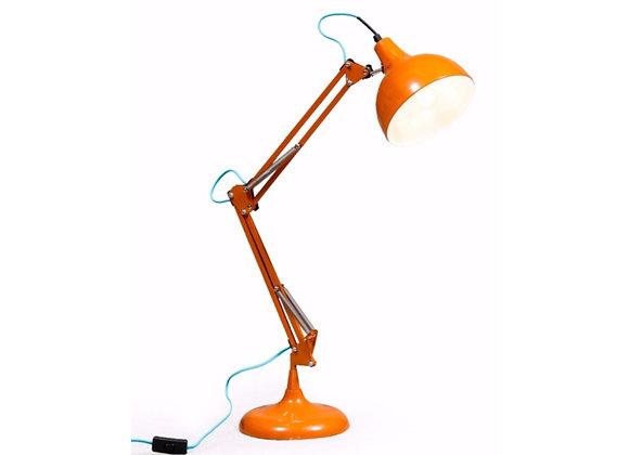Traditional Angle Poise Desk Lamp (Orange)