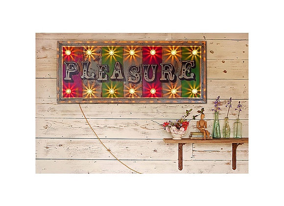 'Pleasure' Hand Painted Sign