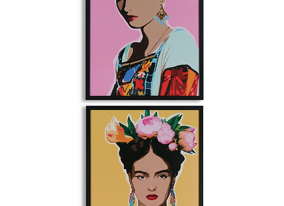 Beautiful Pair Of Framed Frida Kahlo Prints
