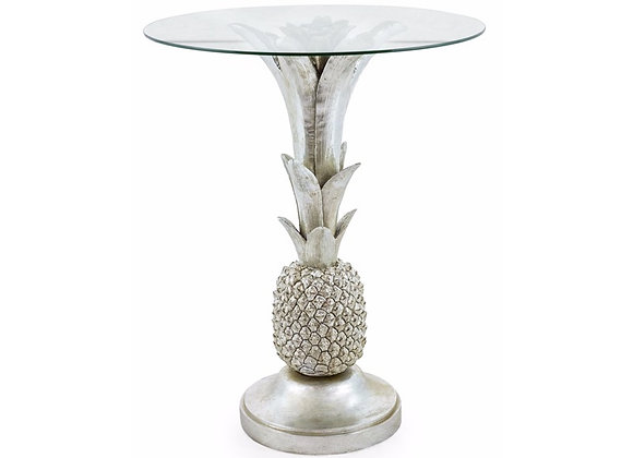 Funky Glass Topped Pineapple Table