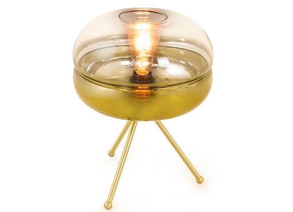 Funky Brass Tripod Table Lamp