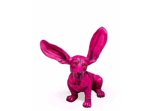 Purple Basset Hound Figure