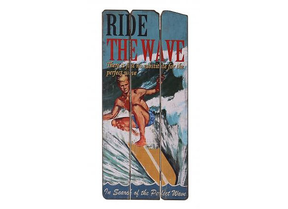 'Ride The Wave' Wooden Sign
