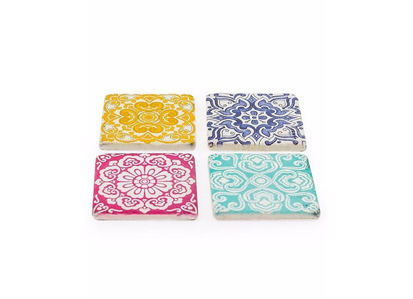 Patterned Set of 4 Coasters