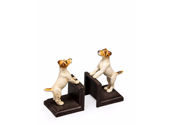 Pair Of Cast Iron Terrier Bookends