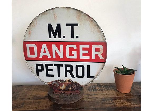 M.T Danger Petrol Enamel Pump Topper