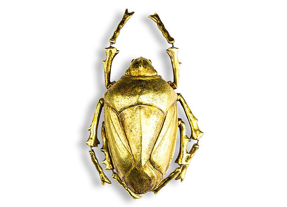 Funky Large Gold Scarab Beetle Wall Decoration