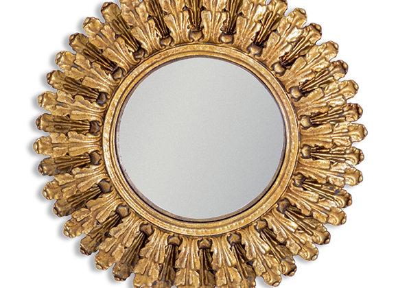 Antiqued Effect Gold Ornamental Mirror