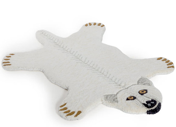 Funky Hand Tufted Polar Bear Woollen Rug