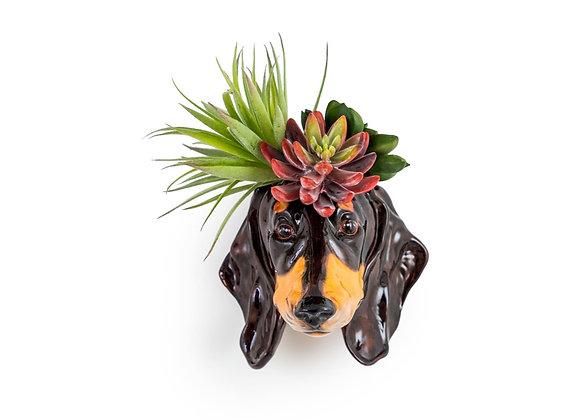 Quirky Ceramic Dachshund Vase