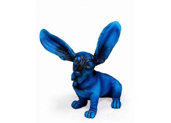 Blue Basset Hound Figure
