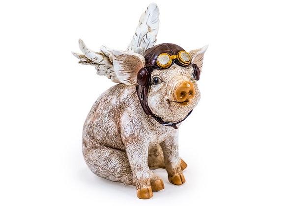 Funky Flying Pig Figure