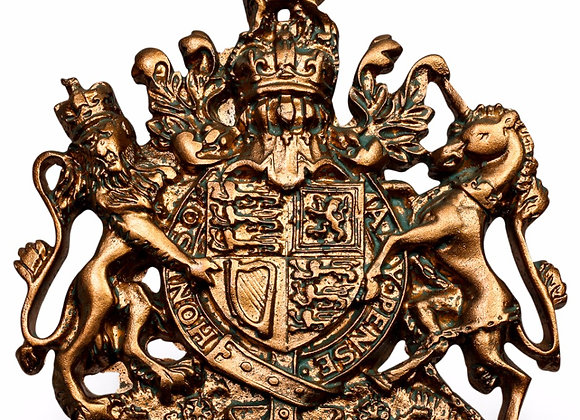 Small Bronze Effect Coat of Arms Decoration