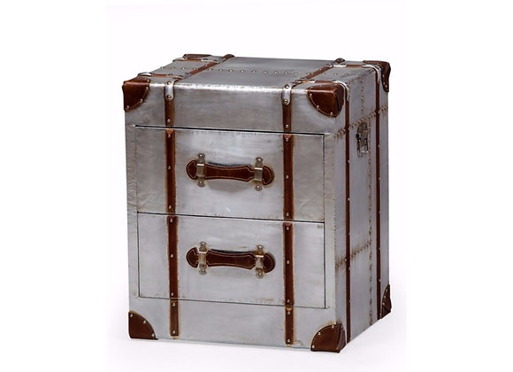 Quirky Silver Travel Trunk Drawers