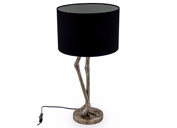 Funky Silver Flamingo Leg Lamp With Bright Pink Shade