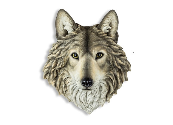 Stunning, Realistic Grey Wolf Wall Head
