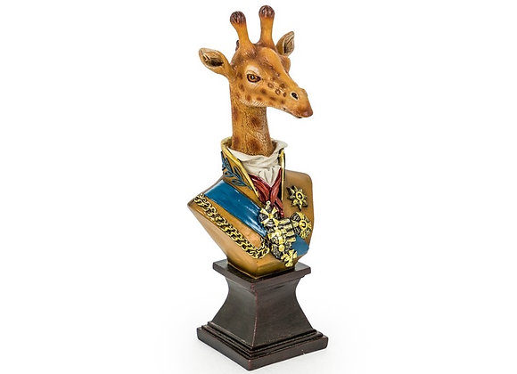 Funky Regal Giraffe Bust