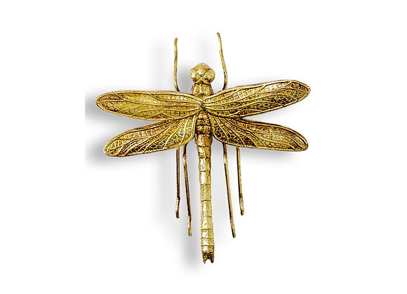 Stunning Gold Dragonfly Wall Decoration