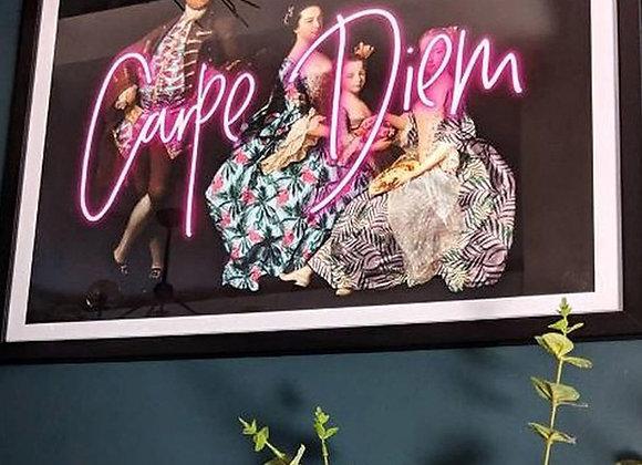 Neon Carpe Diem Print