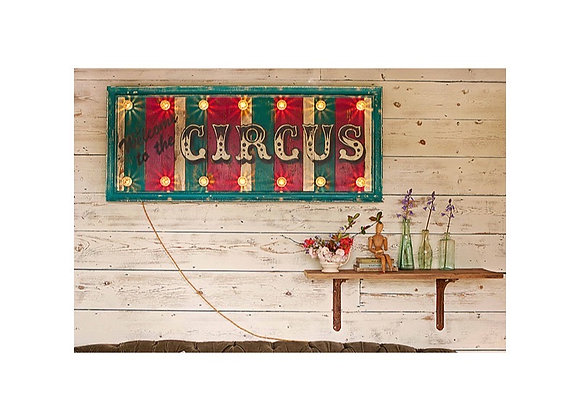 'Welcome to the Circus' Hand Painted Sign