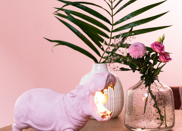 Fabulous Funky Pink Hippo Table Lamp