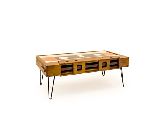 Funky Solid Wood Cassette Table