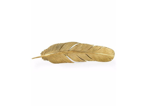Large Gold Feather Wall Decoration