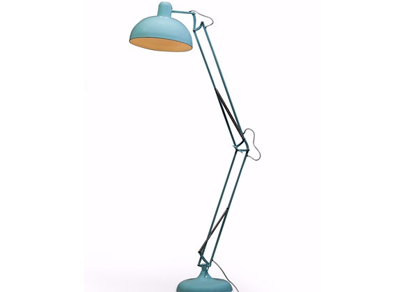 Quirky Large Blue Flex Floor Lamp With Grey Wire