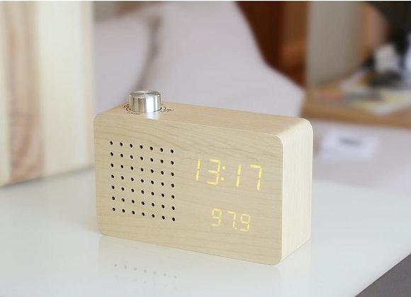 Radio Click Clock Maple