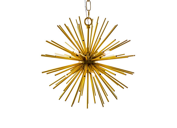 Quirky Brass Spiked Ceiling Light