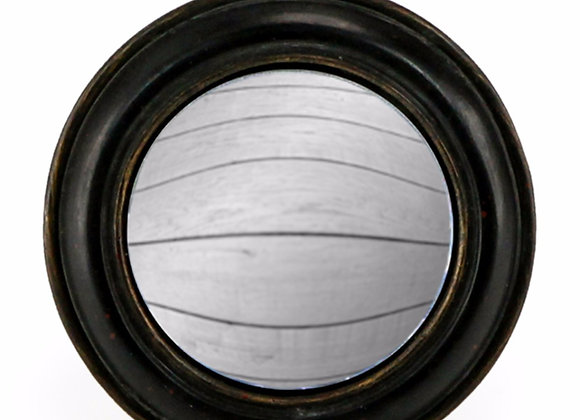 Small Black Framed Round Convex Mirror