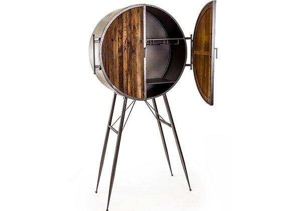 Quirky Industrial Bar Cabinet