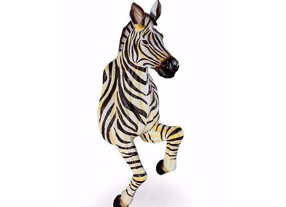 Fantastic, Life Size Running Zebra Wall Figure