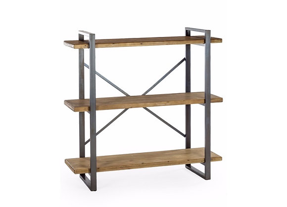 Industrial Wood And Metal Shelving Unit