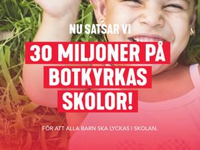 30 miljoner extra till Botkyrkas skolor och förskolor!