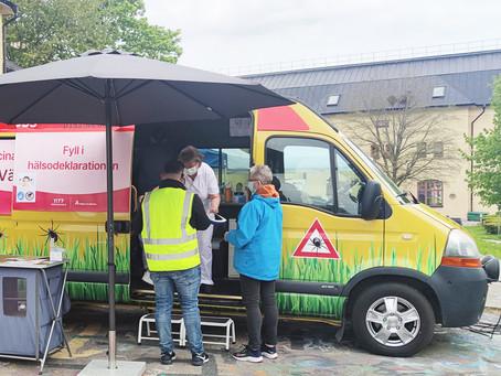 Vaccinbuss på plats i Botkyrka från och med i dag