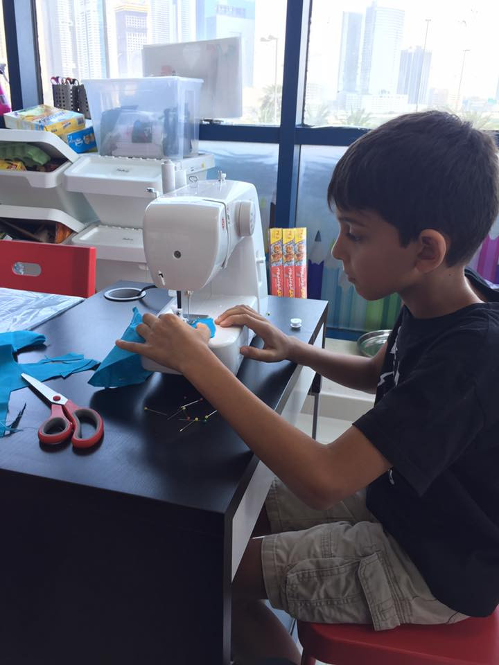 Makerspace:  Learning to sew on a machine