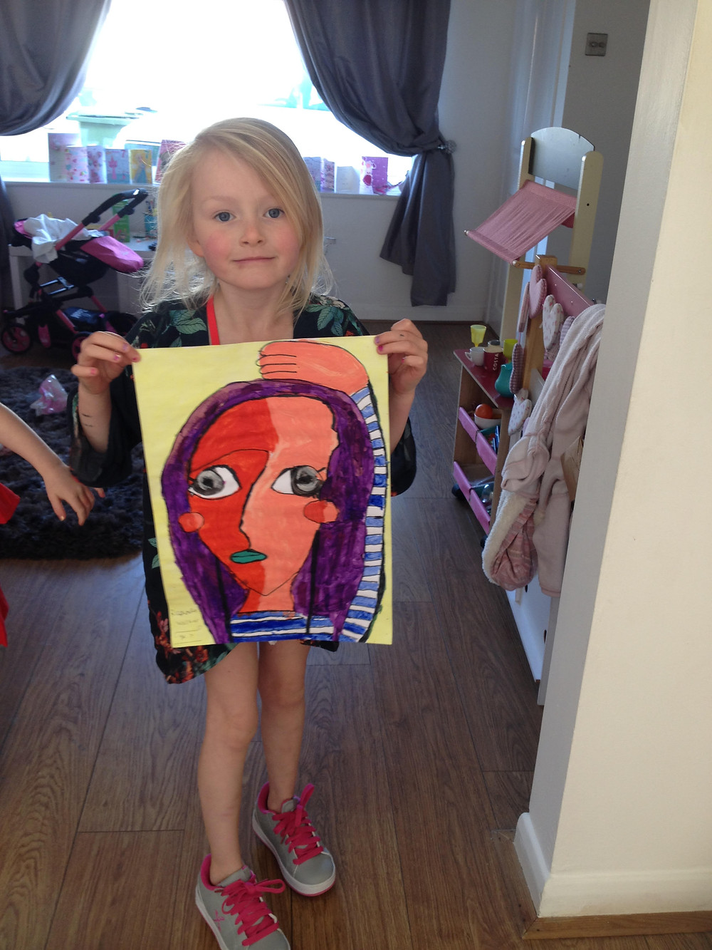 Raphaella with her finished masterpice