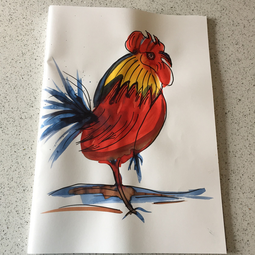 Art Class Cockerel