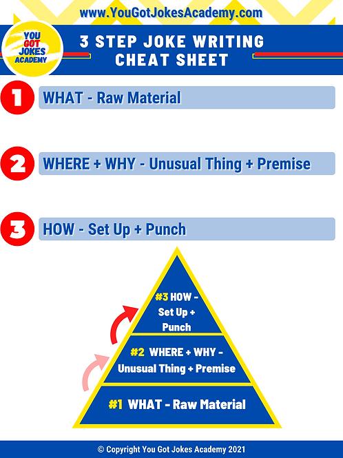 You Got Jokes 3-Step Joke Writing Cheat Sheet