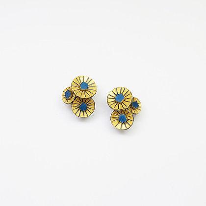 Boucles d'oreille Cilea 'Kyoto' Courtes Bleues