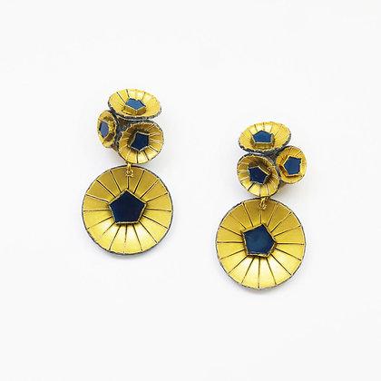 Boucles d'oreille Cilea 'Kyoto' Bleues