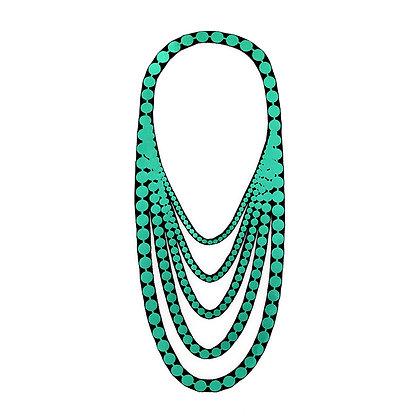 Collier Uli Rapp 'Pearl short' vert turquoise