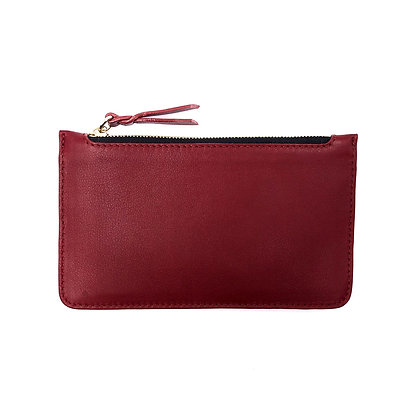 Pochette Michael Guérisse O'Leary 'Mini Pouch' Rouge lisse