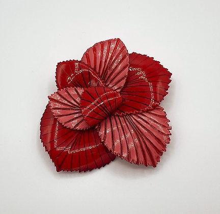 Broche Cilea 'Coton' Rouge