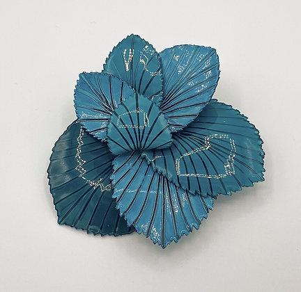 Broche Cilea 'Coton' Bleue