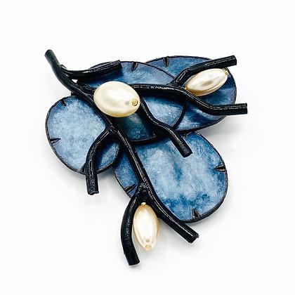 Broche Cilea 'Maldives' Bleue