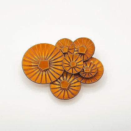 Broche Cilea 'Kyoto' brune