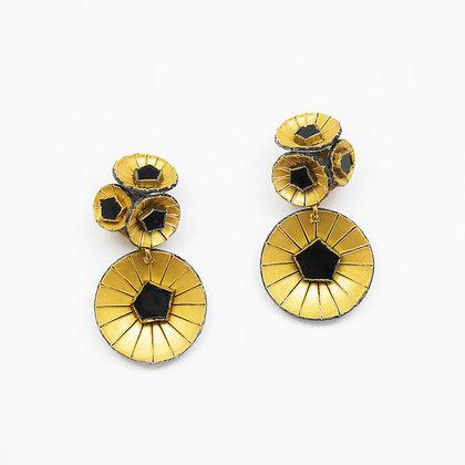 Boucles d'oreille Cilea 'Kyoto'  noires